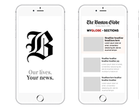 The Boston Globe - App Mocks