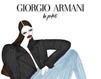 Armani beauty - event illustrations