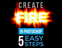 HOW TO CREATE FIRE IN PHOTOSHOP IN 5 STEPS