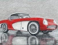 Rysunek, malarstwo - Samochody, motocykle