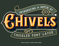 Chivels - Chiseled Vintage Fonts