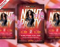 Night Club and DJ Flyer PSD Template