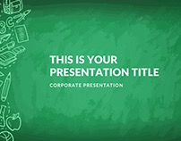 GREENBOARD POWERPOINT TEMPLATE KEYNOTE GOOGLE SLIDES