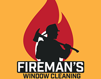 Fireman's Window Cleaning - Branding