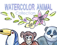 Watercolor Animal collection