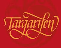Targaryen lettering