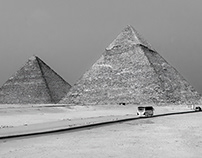 A dozen years ago under the pyramids