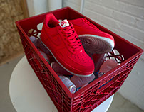 custom Quarter Water Nike Air Force 1