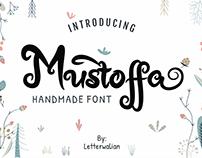 Mustoffa font