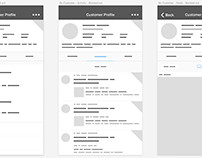 Wireframes - Social iOS app