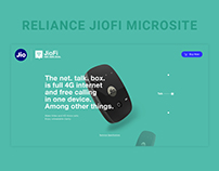 Reliance JioFi Microsite Design