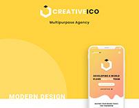 UI/UX Design For Multipurpose Creative Company.