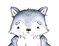 Wolf Pup Illustration
