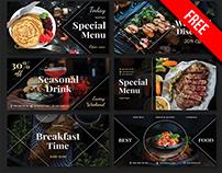 Free Food Facebook Banner Set in PSD