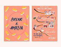 Story Wedding Invitation Design: Bruno & Amelia