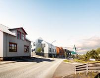 Mixed-use complex in Hafnarfjörður, Iceland