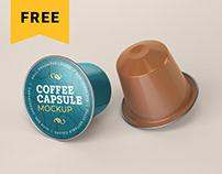 Free Coffee Capsule Mockup | Packaging