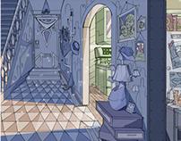 Hallway/Kitchen Background Design