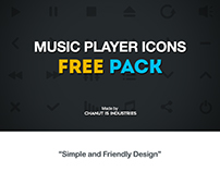 FREE! Music Player Icons pack by Chanut-is-Industries