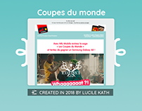 Emailing - Coupe du Monde