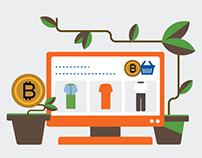 Инфографика для криптобанка