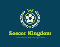 FREEBIES - Soccer Kingdom Logo Template