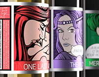 Pop Art Romeo and Juliet Wine Labels