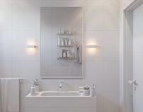 Modern Small Bathroom ( Lighting )