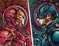 team iron vs team cap  project