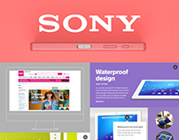 Sony: responsive microsite, emails, & key visuals