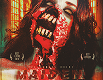 M A I D E N _ The Zombie Bride's poster horror design