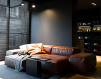 Man's flat desing by Line architects