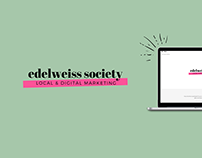 edelweiss society   WEB DESIGN
