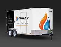 Legend Disaster Cleanup Trailer Wrap