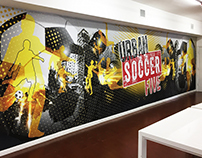 Wall design, printed & installed
