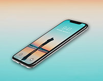 Perspective iPhone X Mockup – Free PSD