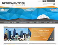 Negosyante Mock Web Design