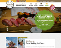 Tokyo Walking Foodie Tours Design by nexstair technoloy