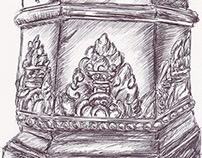 Ballpen Angkor Cambodia