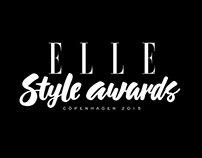 Calligraphy for ELLE Style Awards