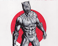 #BlackPanther WOW Original Art Sketch Cover