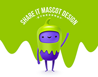 Share it mascot design