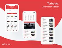 'Turbo Az' Car Buying App | IOS UI Kit