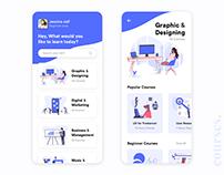 Online Courses Ui Design Concept