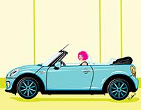 Girls on Wheels Illustration Series