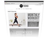 Subscription Page Design and coding for Fit & Thick