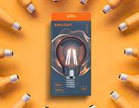 EMILIGHT packaging design of light bulbs with filaments