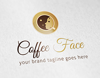 Coffee Face Logo Template
