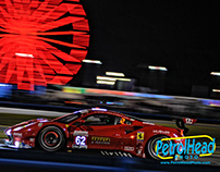 2019 ROLEX 24 AT DAYTONA, GTLM CLASS AT NIGHT.