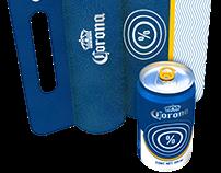 Corona Beer - 90th Anniversary Blue Design Packaging